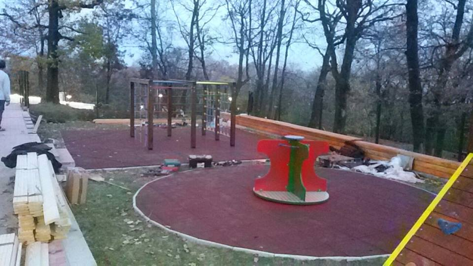 The Avala Tower - children's playground